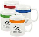 10oz Color Stripe Mugs